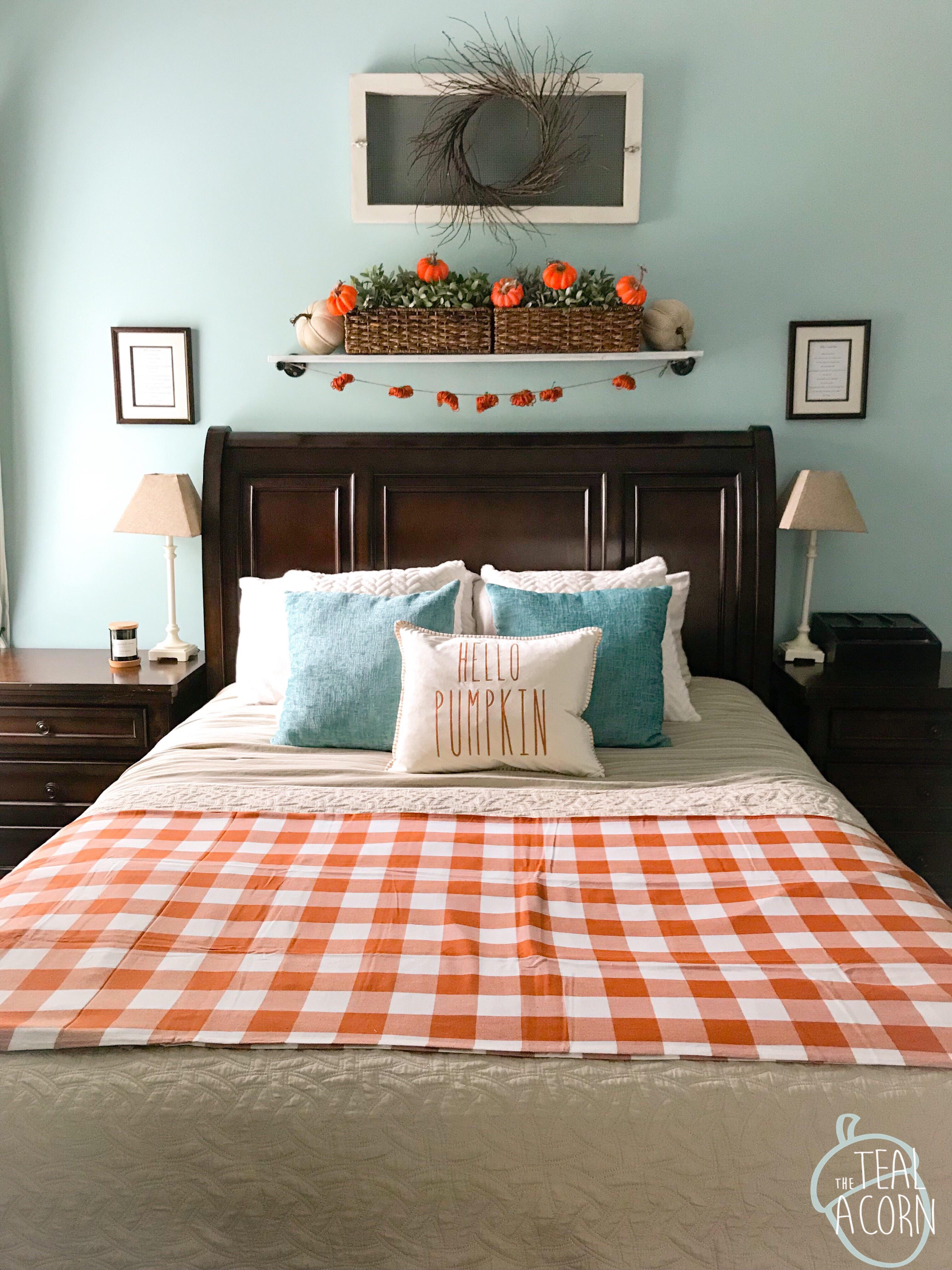 Fall Bedroom Decor The Teal Acorn
