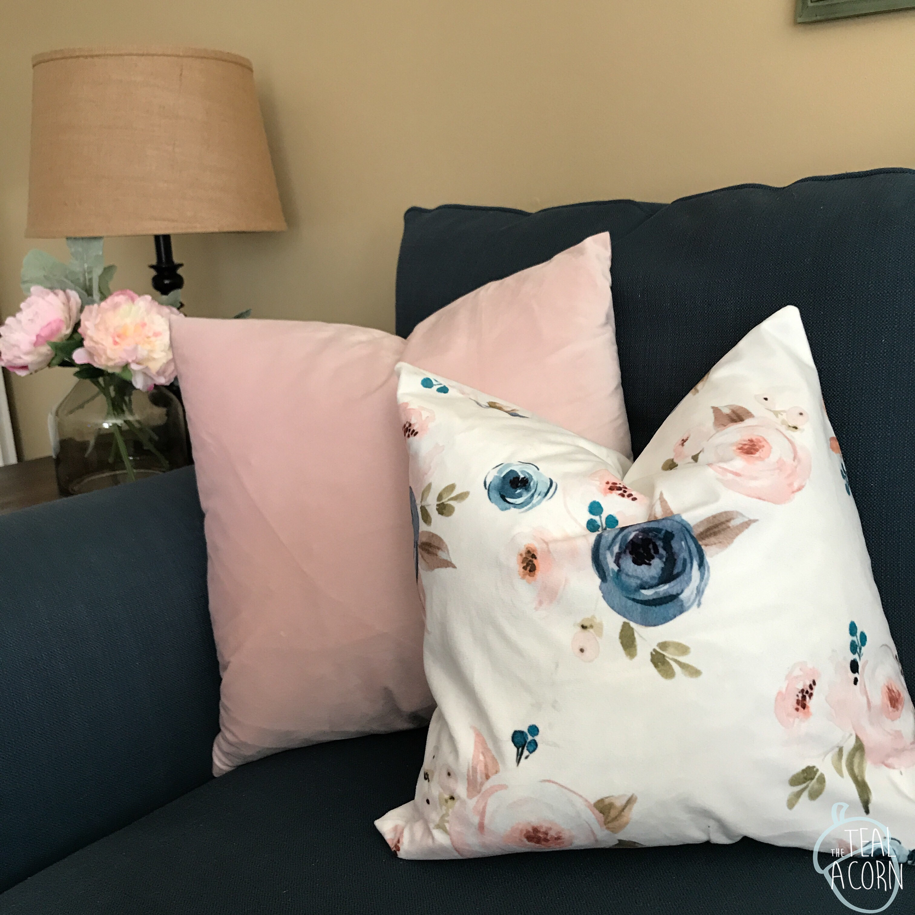 floral and velvet pillow covers