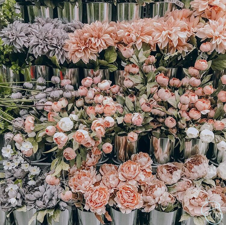 Dusty, muted florals in Michaels craft store